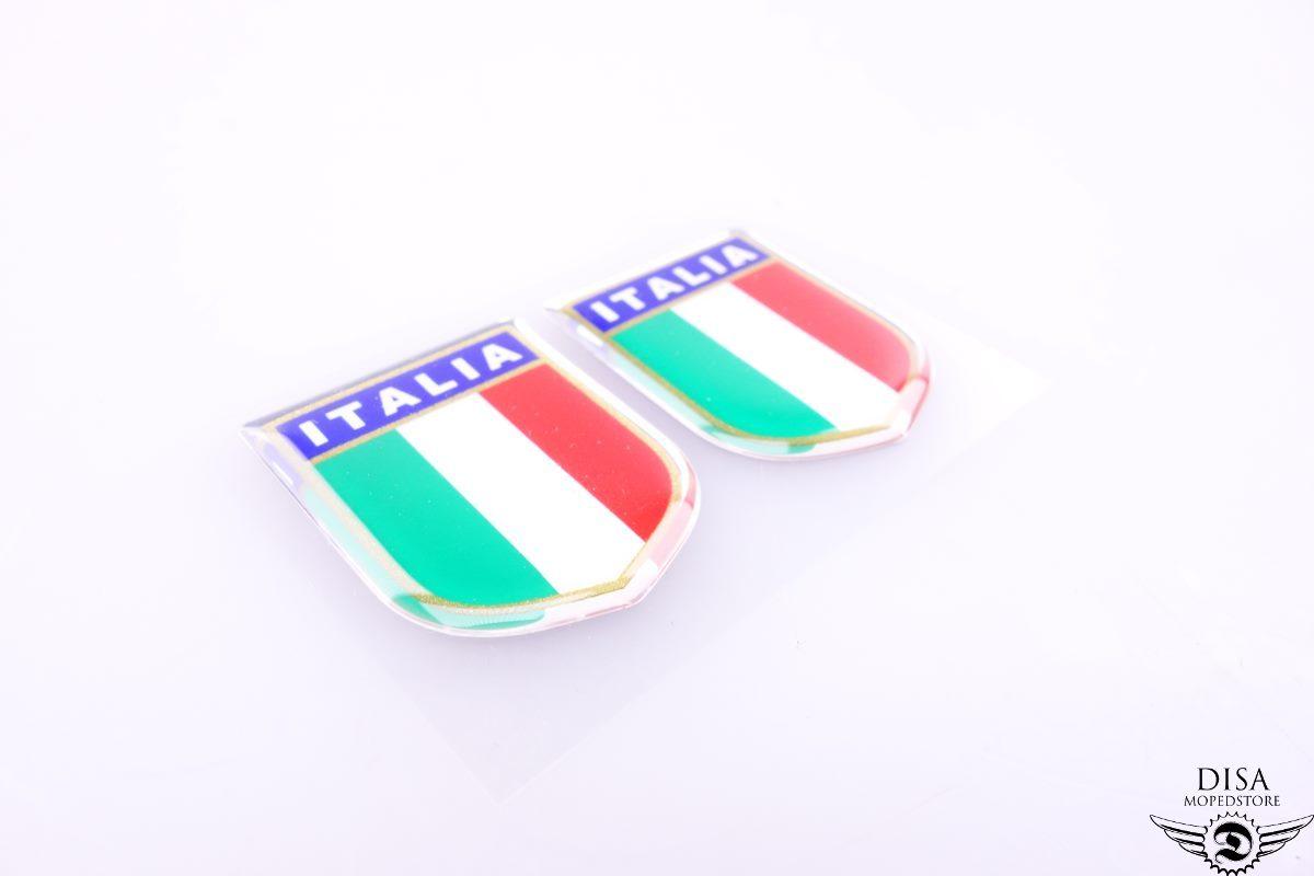 2x Vespa ITALIA Italien Aufkleber Emblem Flagge Verkleidung NEU * | eBay