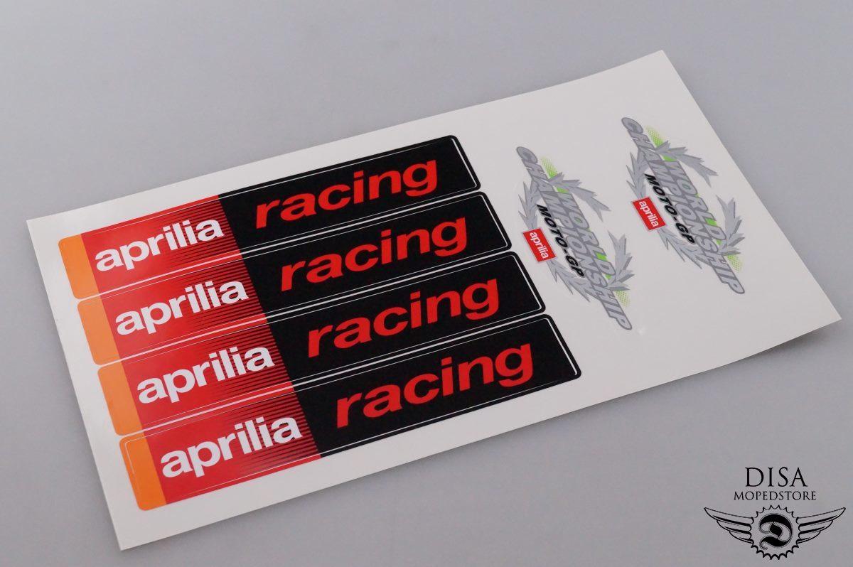 Aprilia Racing Aufkleber Sticker Satz Dekor MOTO-GP Verkleidung NEU ...