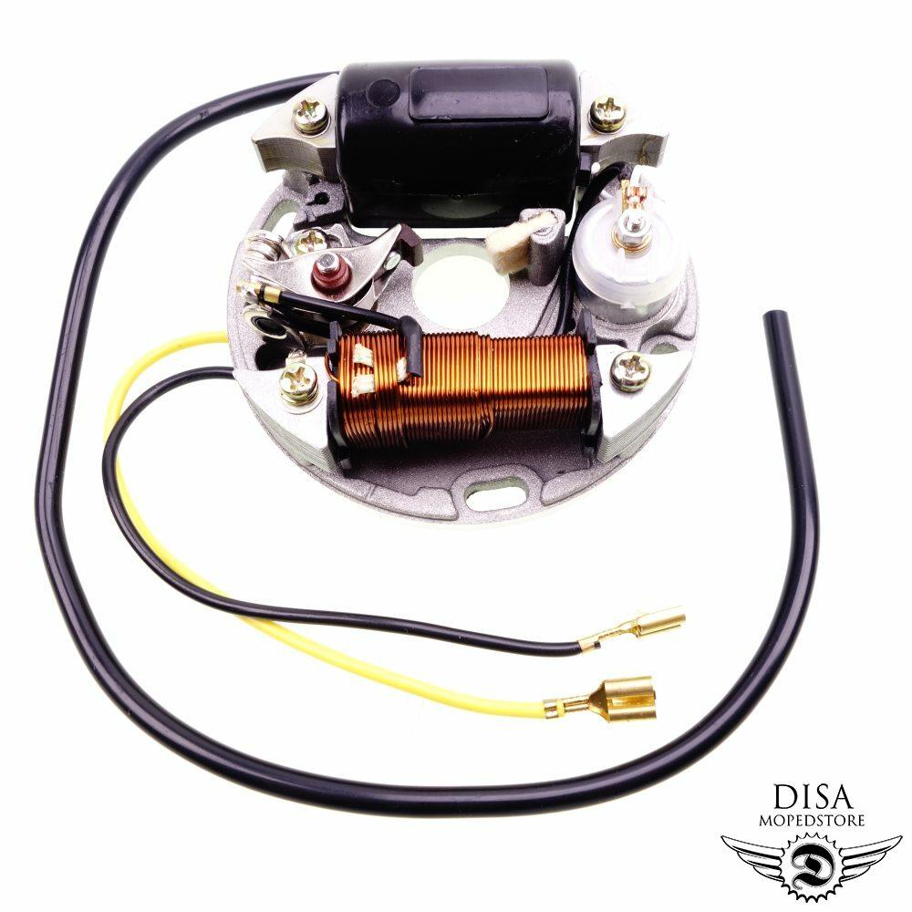NEU* Zündung 6V 17W Hercules Prima M 2 3 4 5 Grundplatte Kondensator Zündkontakt