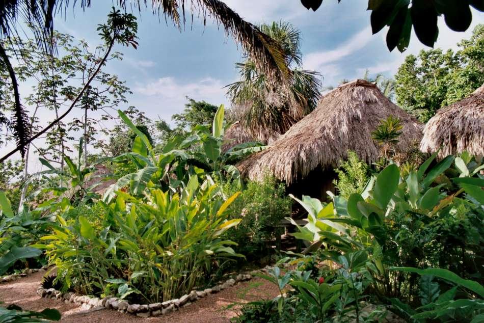 Lamanai Outpost Lodge | Cabanas im tropischen Garten | © Karibik Inside