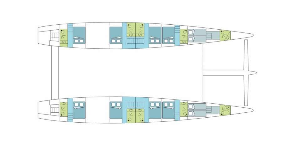 Dream 82 | Kabinenplan (Schwimmer) | © Dreamyacht Charter