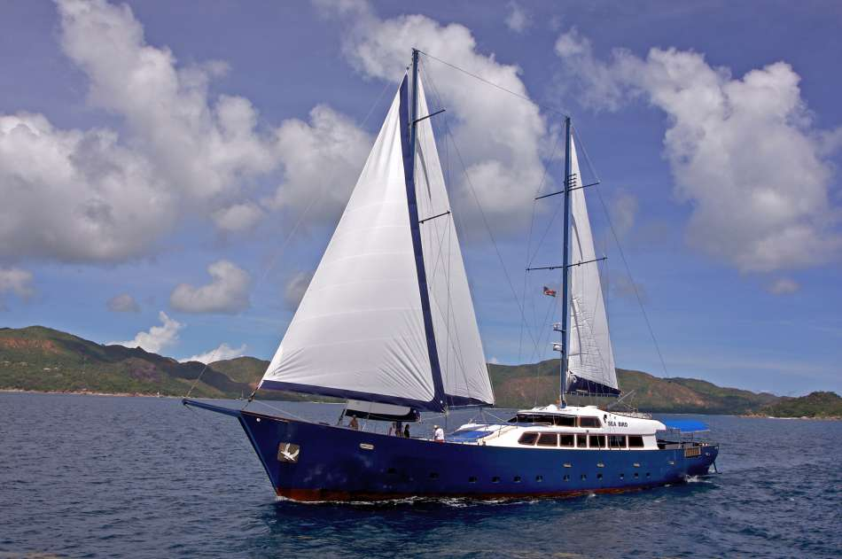 "SY ""Sea Bird"" | Unter Segeln | © Silhuette Cruises"
