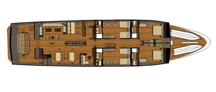 "MY ""Sea Star Journey"" | Decksplan - Hauptdeck | © Latin Trails"