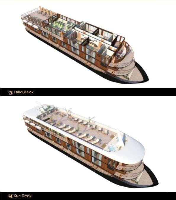 "MV ""Anakonda""   Decksplan - 3. Deck & Sonnendeck   © Advantage Travel Ecuador"